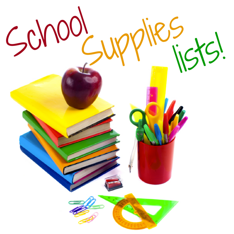 School Supplies List Image